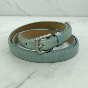 Talbots Skinny Thin Light Blue Leather Belt Large